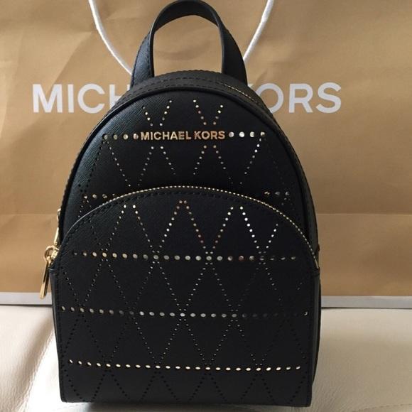 460e2080f478 Michael Kors Bags | Nwt Abbey Black Xs Backpack Leather | Poshmark